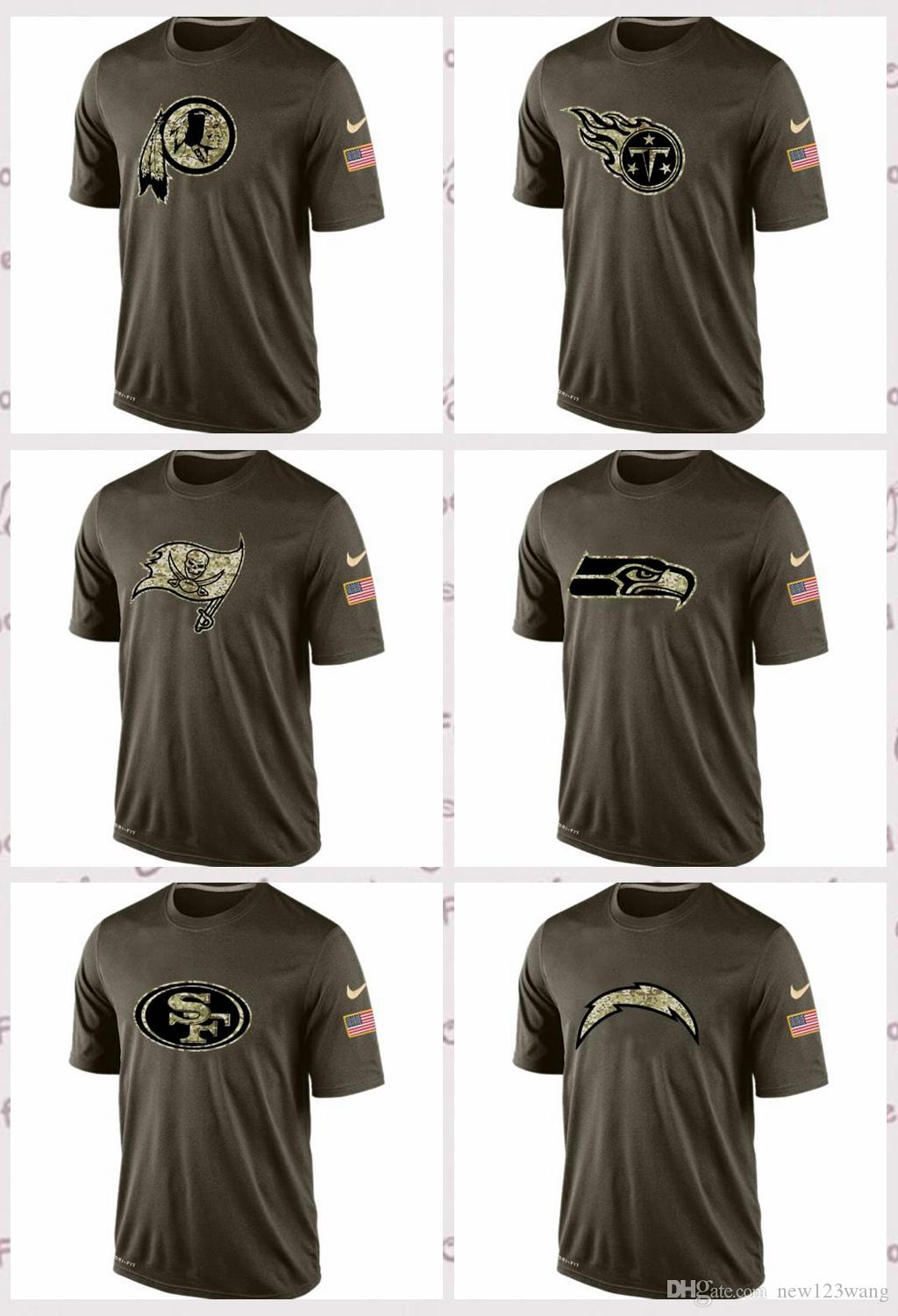 new styles 1e863 3cdd1 Washington Redskins San Francisco 49ers Seattle Seahawks Tampa Bay  Buccaneers Salute To Service T-Shirt