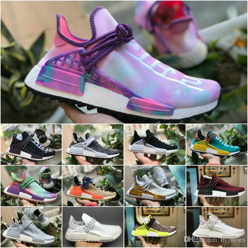 ef0bf1b95e937 2018 Top Originals PW Pharrell Williams Human Race Nmd TR Shoes Men Women  Nmds Black White Grey Red Primeknit PK Runner XR1 R1 R2 Sneakers Sneakers  Jordans ...