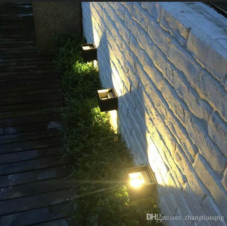 Lampade da parete Nuovo 12W Piazza LED IP 65 impermeabile illuminazione esterna dimmerabile Breve Cube orientabile da superficie Wall Light
