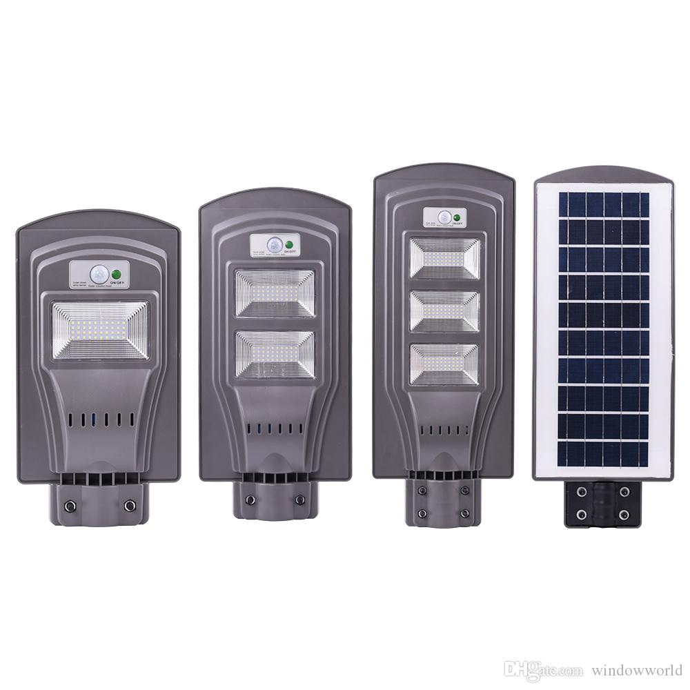 20W 40W 60W LED Solar Light Radar Sensor LED Street Light Outdoor Wall Lamp  Security Spot Lighting Waterproof