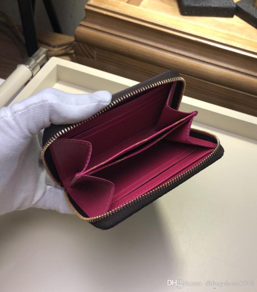 Top-Qualität gedruckt Kartenhalter Hot Fashion Marke Designer Frauen Mode Brieftaschen kleine Geldbörsen Münze Geldbörsen mit Box M62617