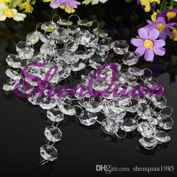 Espumante Crystal clear guirlanda lustre bolo de casamento stand festa de aniversário fornece decorações para peças centrais de mesa