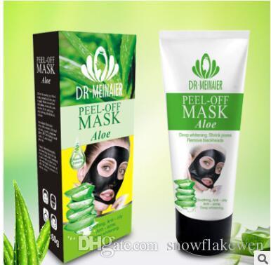 7 stili 60g buccia -off maschera nera Oro Collagene Bambù Carbone di legna Mar Morto Rosa Latte Cetriolo Aloe pulizia profonda leviga le pelli