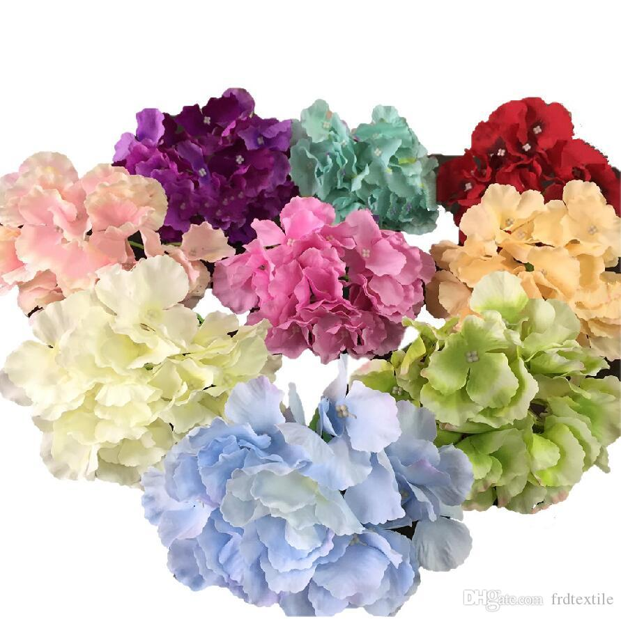 Bigger Petal Artificial Wed Flowers Purple And Blue Hydrangea Silk