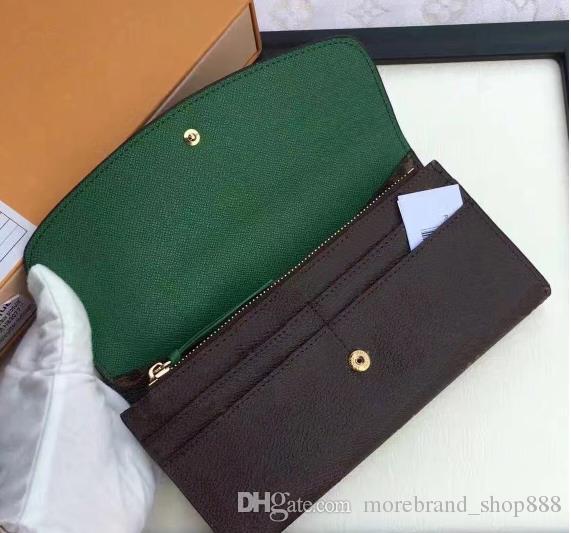 الجملة المرأة سيدة طويل محفظة متعدد الألوان مصمم عملة محفظة حامل البطاقة مع مربع النساء الكلاسيكية سستة جيب