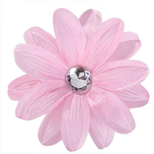 FABY Rhinestone Lily Flower Hair Clip for Lady Girls - Light Pink