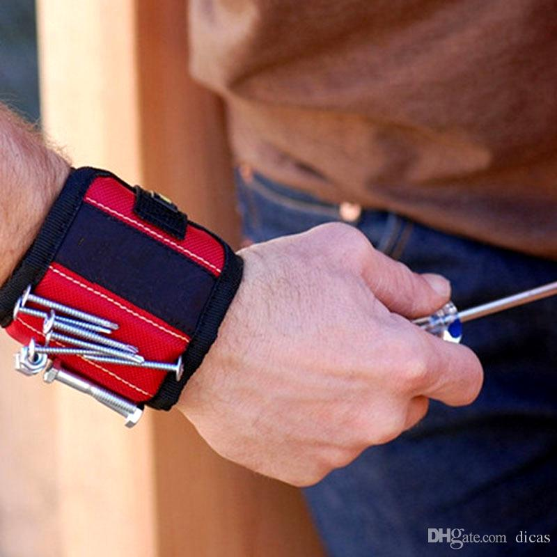 super chaud bracelet magnétique puissant perceuse électrique sans fil accessoire de stockage brassard bracelets de travail vis sdsorption aimants