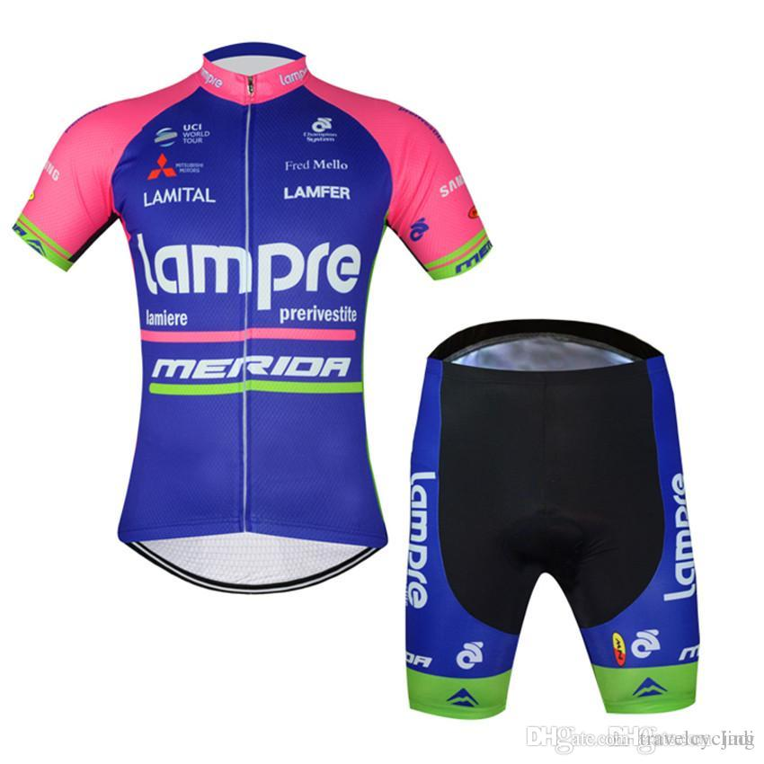 2017 Lampre Cycling Jerseys Men Wear Suit Bicycle Clothing Jersey ... cf83e18b6