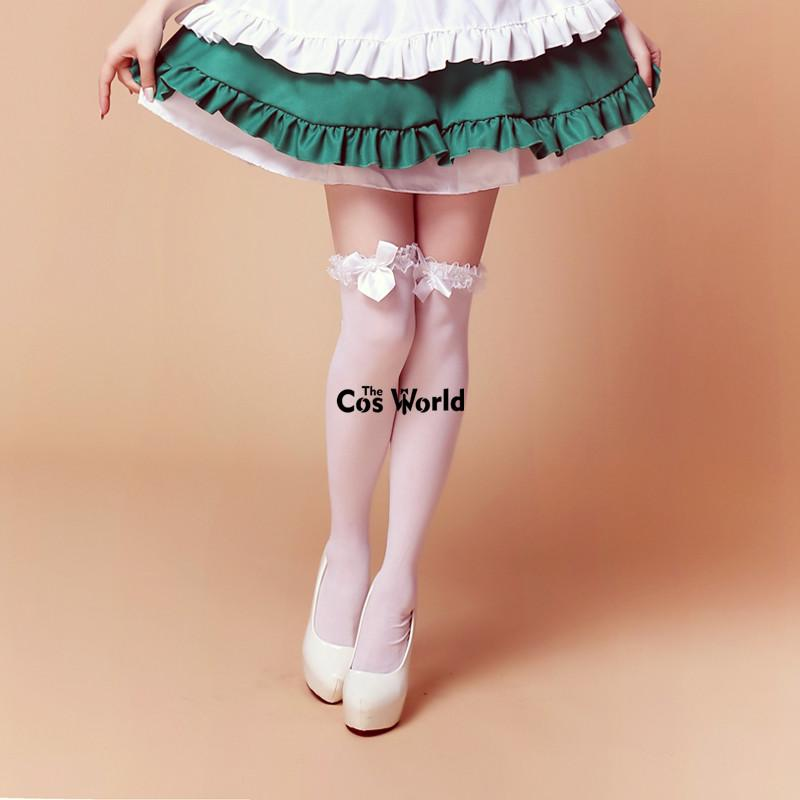 d03672a27c9 Thighhighs Lolita Bowknot Lace Over The Knee Long Stocking Socks Thighhighs  For Maid Dress Cosplay Costumes Thighhighs Cosplay Cheap Thighhighs Online  with ...