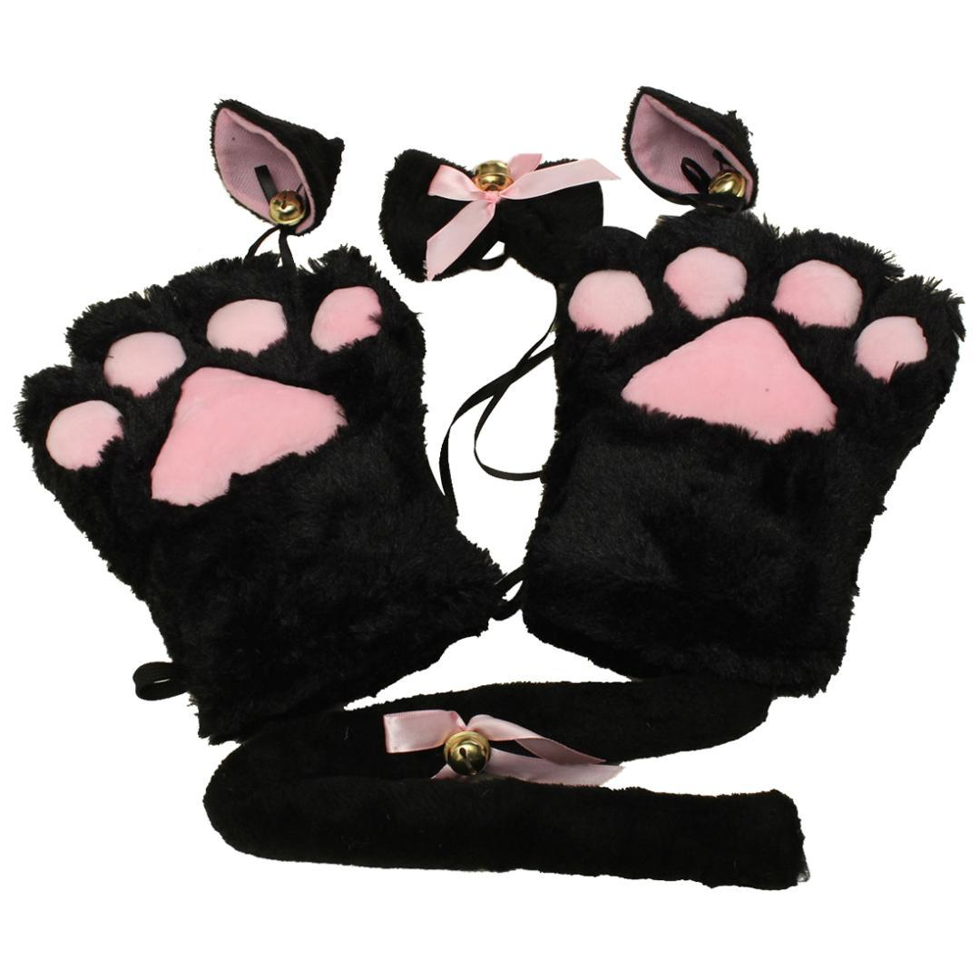 2019 Kitten Cat Maid Cosplay Roleplay Anime Costume Gloves Ear Tail