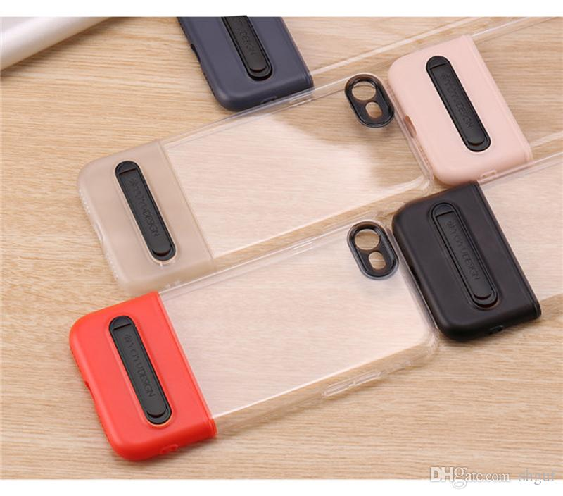 2018 Hot Sale Moblie Phone Case For iPhone X 8 7 6s Plus Cell Phone Bracket Protective Case With Bracket Stand Holder Best Price Free DHL