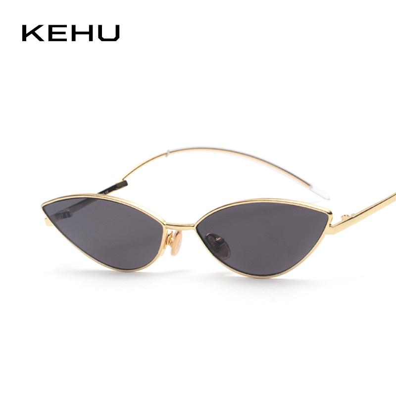 31ea4c82894f5 KEHU Ladies Fashion Cat Eye Sunglasses Trendy Eyewear High Quality Alloy  Frame Curved Leg Design Sunglasses Women UV400 K9504 Sun Glasses Eyewear  From ...