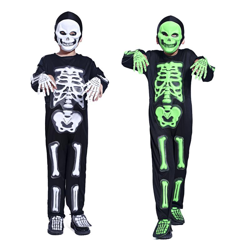 Skeleton Family Halloween Costumes.Halloween Costume Party Dress Skeleton Ghost Clothing Masquerade Party Boys Funny Skeleton Clothes Clothes Role Playing