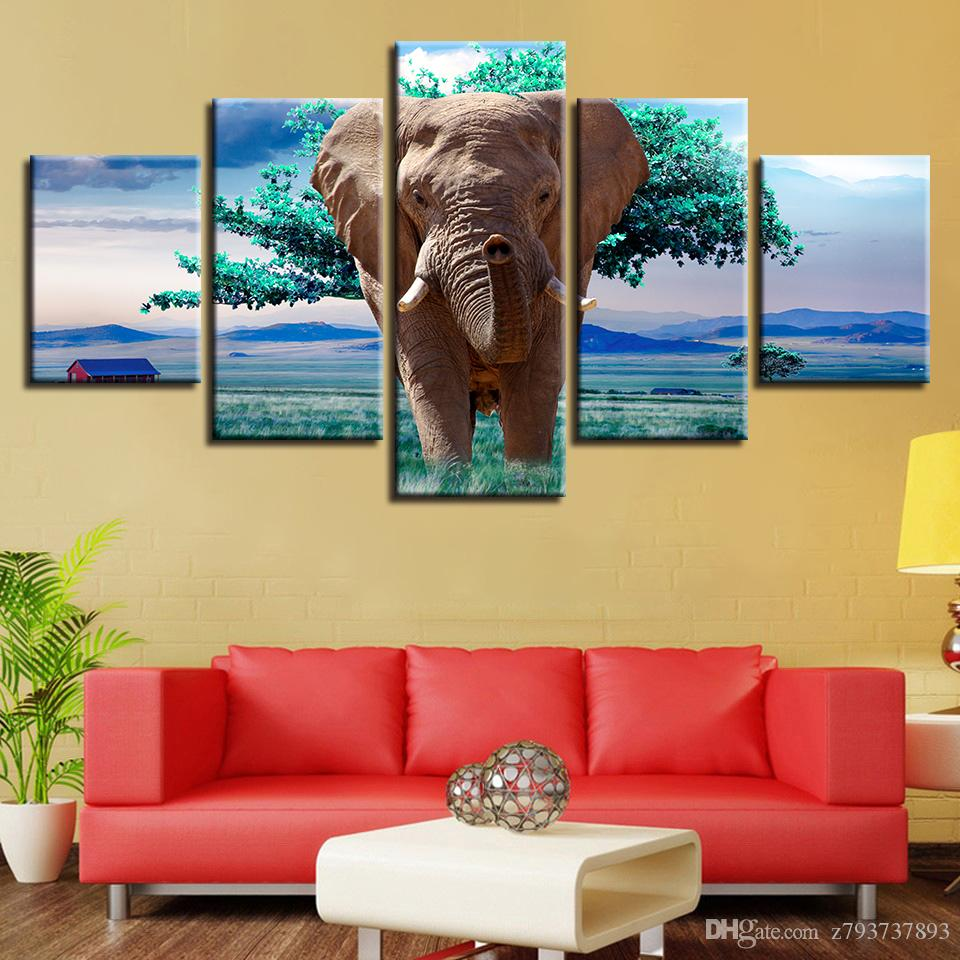 2018 Modular Canvas Hd Prints Wall Art Pictures Frame Poster Animal ...