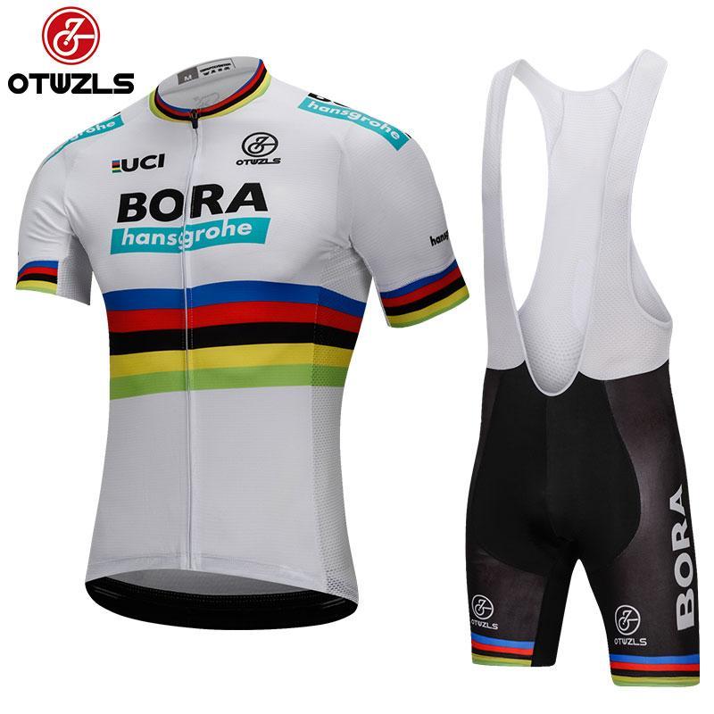 9a257c4b9 Satın Al BORA 2018 Erkek Bisiklet Jersey Setleri Pro Team MTB Coolmax Jel  Ped Yarış Bisiklet Giyim Nefes Bisiklet Formaları Kiti Maillot Ropa Ciclismo