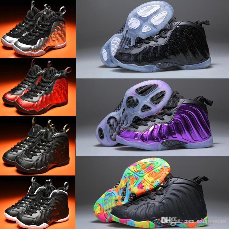 separation shoes a8119 be5cf Kids Basketball Shoes One Penny Hardaway Children Tennis FOAM Eggplant  Basketball Sport Shoes Outdoor Athletic Sneaker Shoe Eur 28 35 Running  Shoes ...