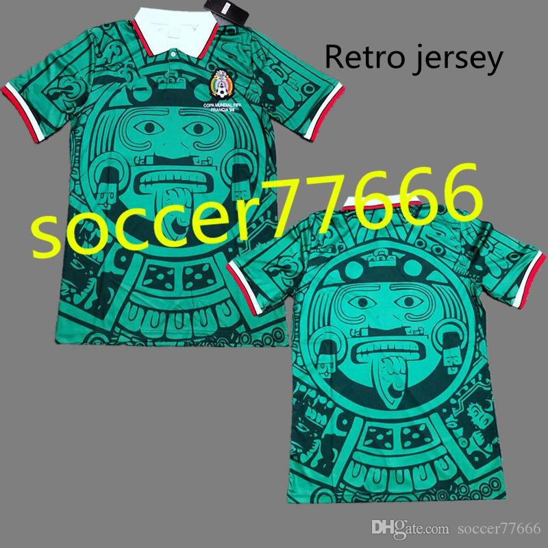 725e33d87 2019 1998 MEXICO RETRO SOCCER JERSEYS  11 BLANCO  15 HERNANDEZ HOME GREE  AWAY WHITE GREE World Cup 1998 Mexico JERSEY FOOTBALL SHIRTS From  Soccer77666