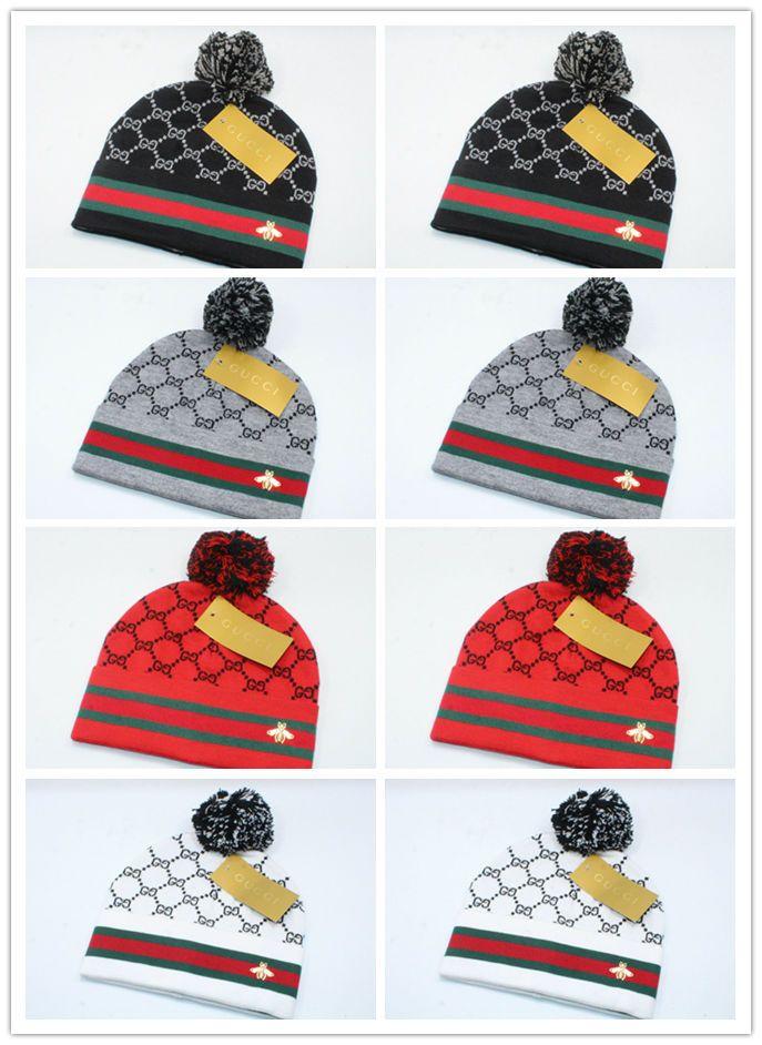 0db4f45c1b4 Newest Arrival Luxury Brands V Autumn Winter Unisex Wool Hat Fashion ...