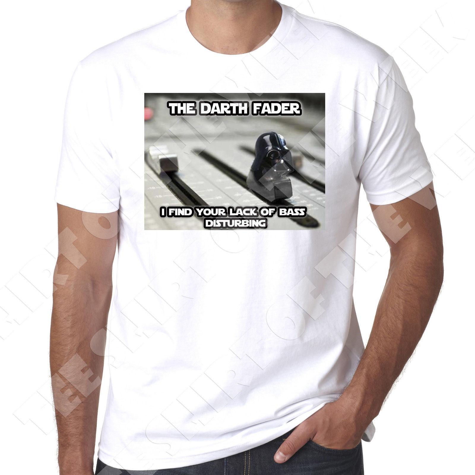 The Darth Fader Table De Mixage Dj Music Producer T Shirt En Coton 100 Coton