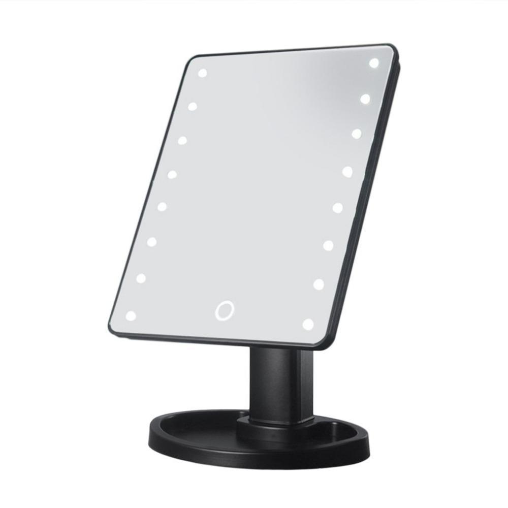 Einstellbare 360 Arbeitsplatte Grad Rotation Led-bildschirm Make-up Spiegel Professionelle Eitelkeit Spiegel Mit 22 Led-leuchten Schönheit & Gesundheit