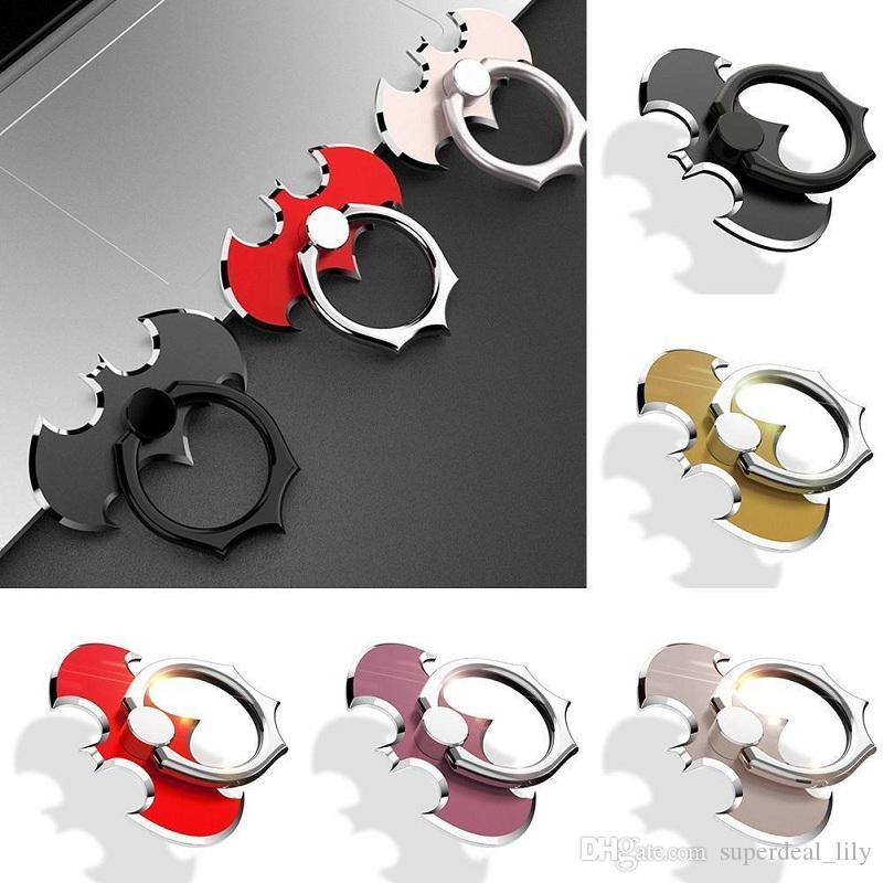 360 Degree Metal Finger Ring Holder Batman Smartphone Mobile Phone Finger Stand Holder For iPhone X 8 Samsung Tablet