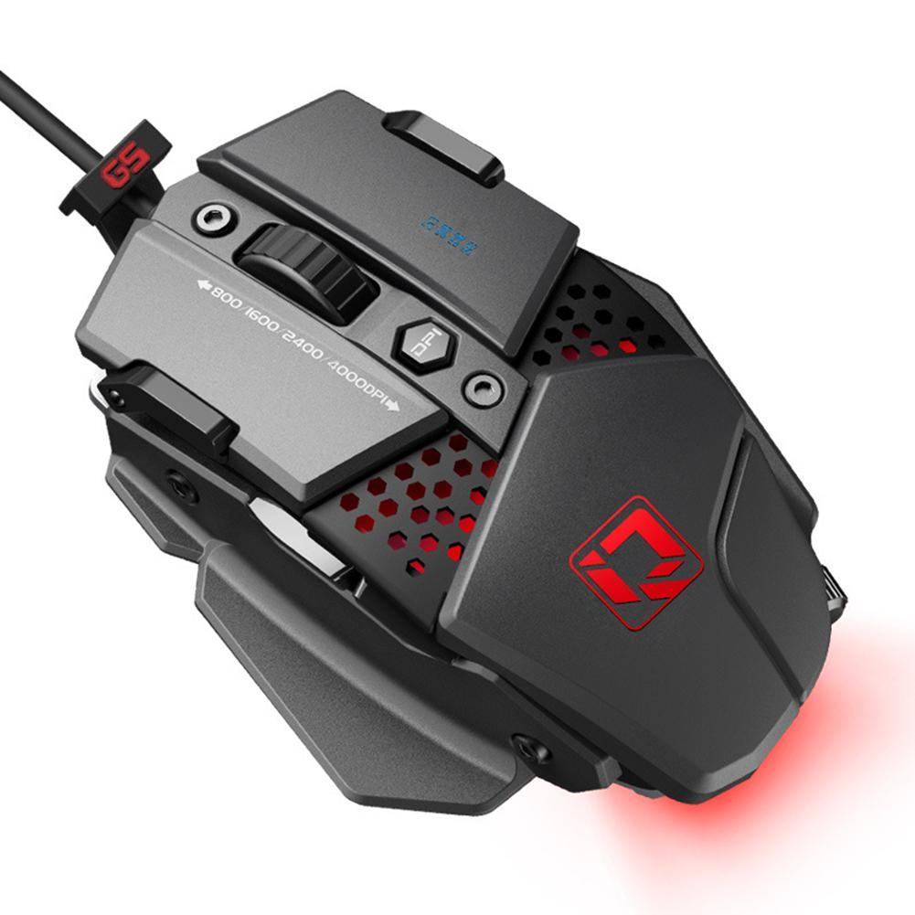 New Product DIQUA 880 Mechanical Gaming Mouse Macro Programming  Professional Wired Game Metal Detachable Mouse