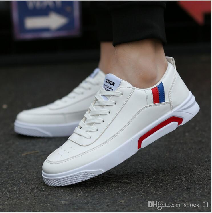 2018 spring new shoes of men's casual shoes han version of the youth trend low help for the fashion shoes