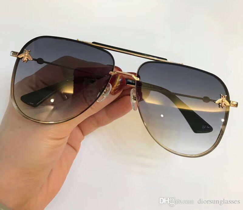 Moda Inspired Büyük Boy Yapay elmas Kare Kare Güneş Kadınlar / Kutu num2018GG2206 ile Erkekler Moda Güneş gözlükleri Yeni