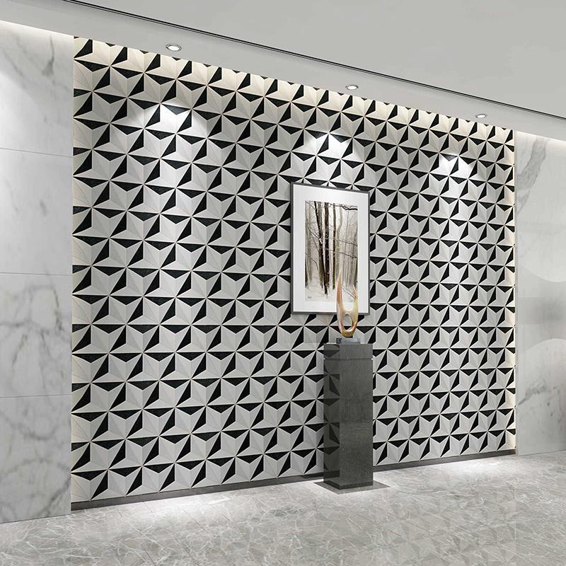 3d Stereoscopic Geometric Vinyl Wallpaper Feature Fashion Diamond ...