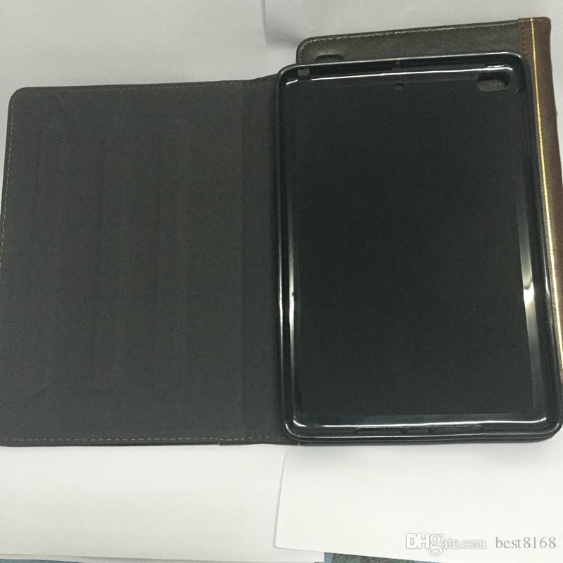 Cassa del portafoglio in pelle stile libro tavola iPad mini 1 2 3 4 7.9inch retrò antico antico vintage vecchio flip skin tacco custodia cataccino moda uomo di lusso uomo copertina