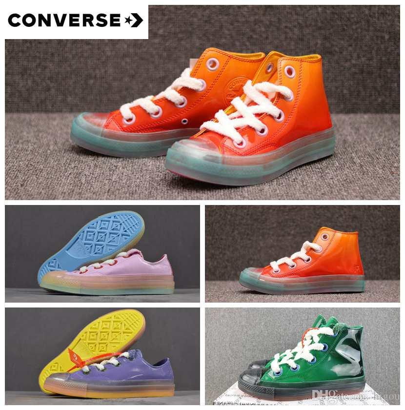 a5a5aaa33a4 New Orange Pink Green JW Anderson X Converse Chuck 70 Big Eyelets High Top  Canvas Jelly Women Men Designer Casual Running Sneakers 36 44 Dress Shoes  For Men ...