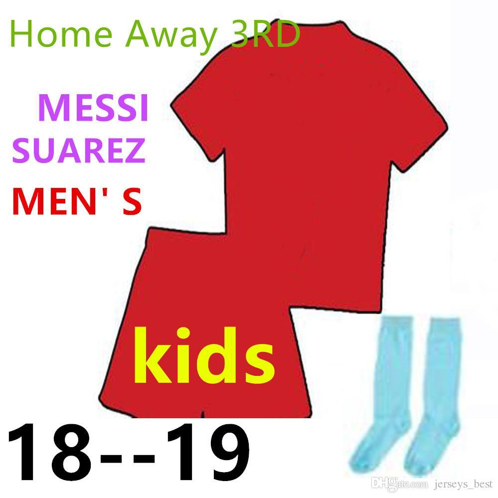 Compre Conjunto De Crianças 2018 Camisa De Barcelona Messi Suarez Iniesta  Camisas De Futebol 18 19 Criança Juvenil Coutinho DEMBELE Camisas De Futebol  Em ... f1bc9862460bc