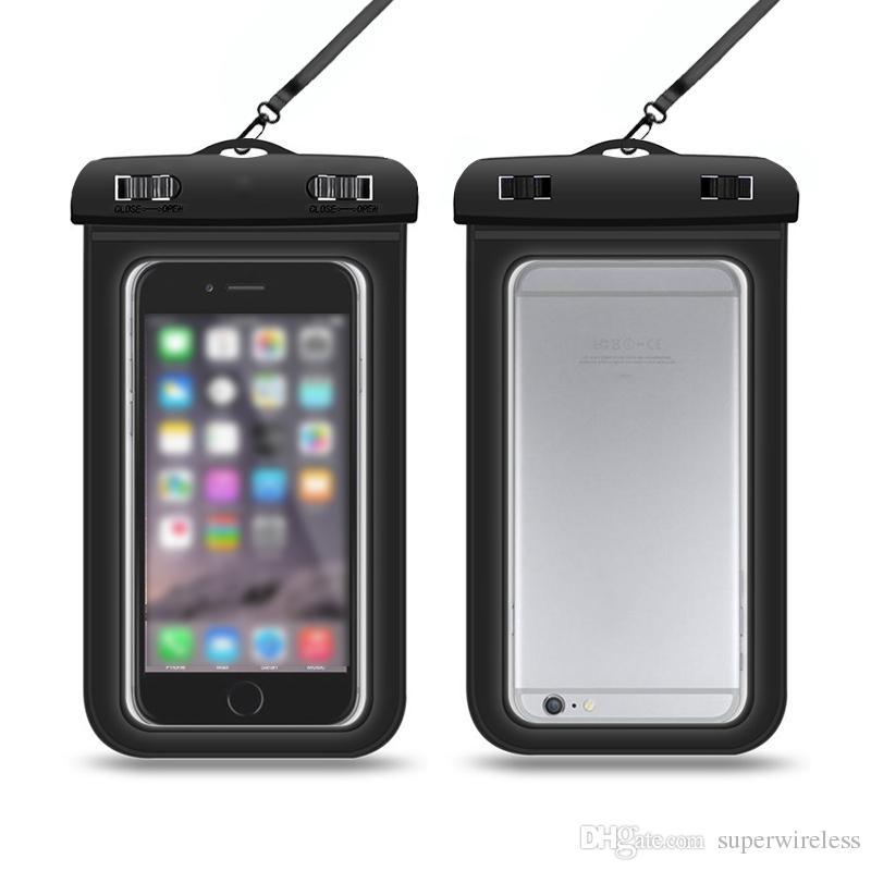 Custodia impermeabile Custodia protettiva in pvc Custodia rigida cellulare Custodia subacquea custodia rigida iphone x samsung s10 smartphones