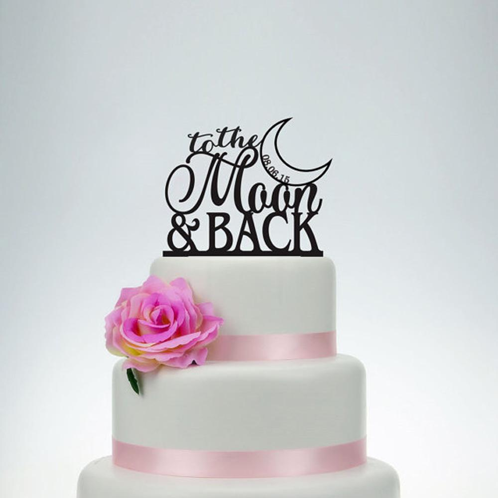 Online Cheap Wedding Cake Topper,To The Moon And Back Cake Topper ...