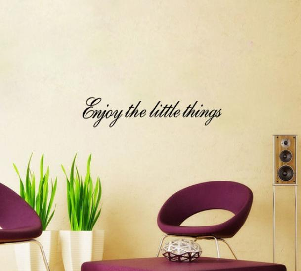 Enjoy The Little Things Vinyl Wall Quotes Inspirational Home Art