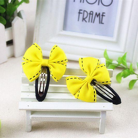 Желтый синий розовый красный зеленый цветок большая точка лук зажим для волос детские дети заколка Pin резинка Шпилька новорожденных девочек аксессуары для волос kk1507