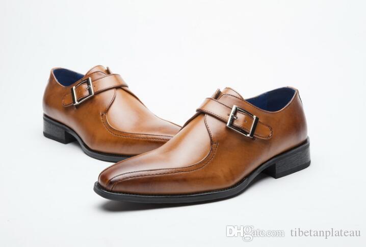 Acheter nouveau véritable en cuir simple boucle hommes formelle