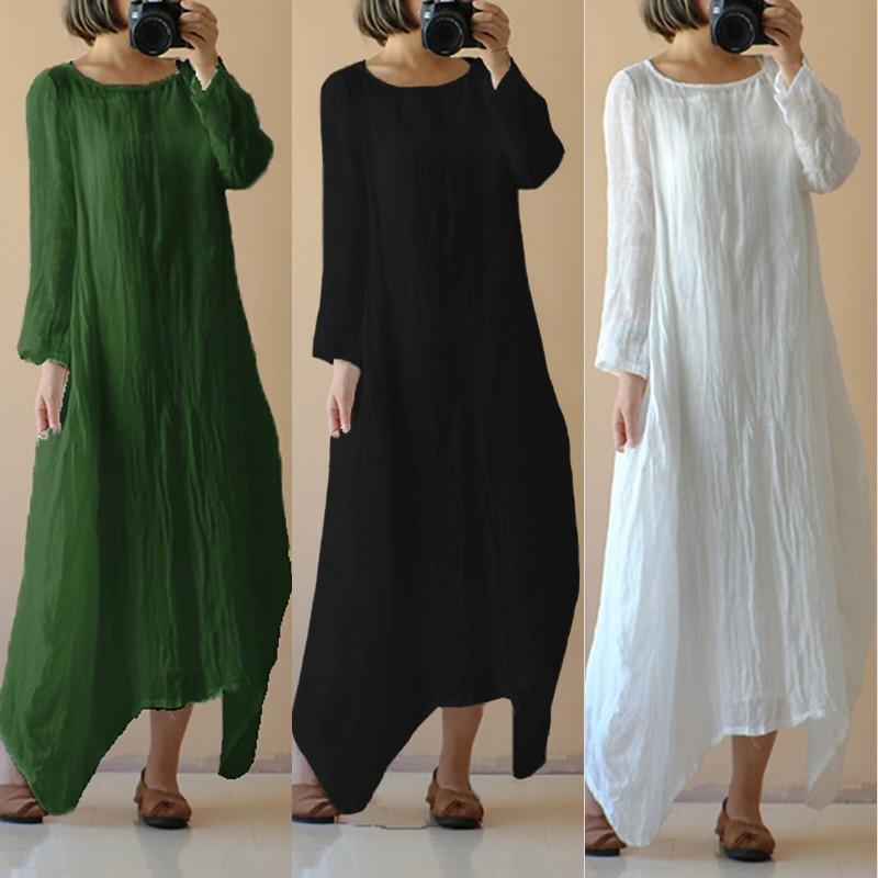 9c882a87a0e S-4XL Celmia 2018 Summer Autumn Women Vintage Oversized Vestidos O ...