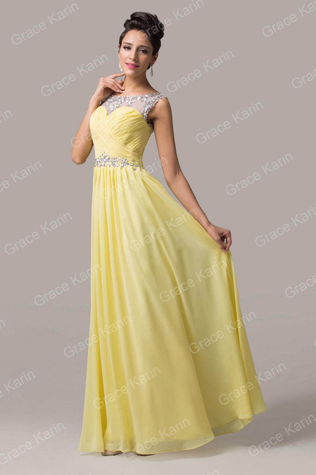 Vestidos de fiesta azul y amarillo