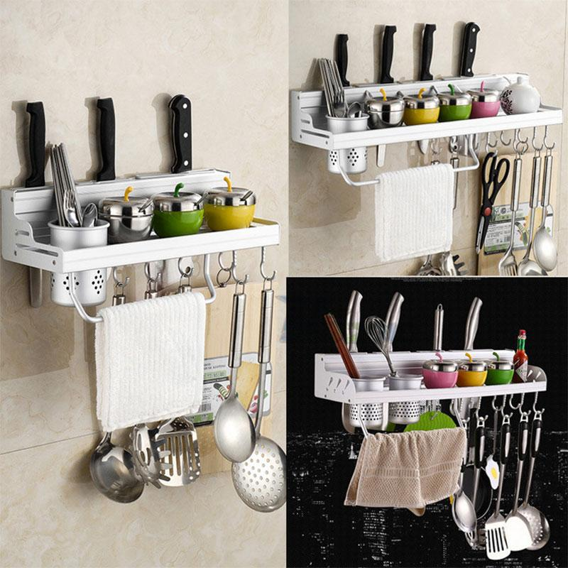 2018 Stainless Steel Kitchen Rack Shelf Cooking Utensil Tools Hook Hanging Holder Storage 40cm From Anzhuhua 27 87 Dhgate Com