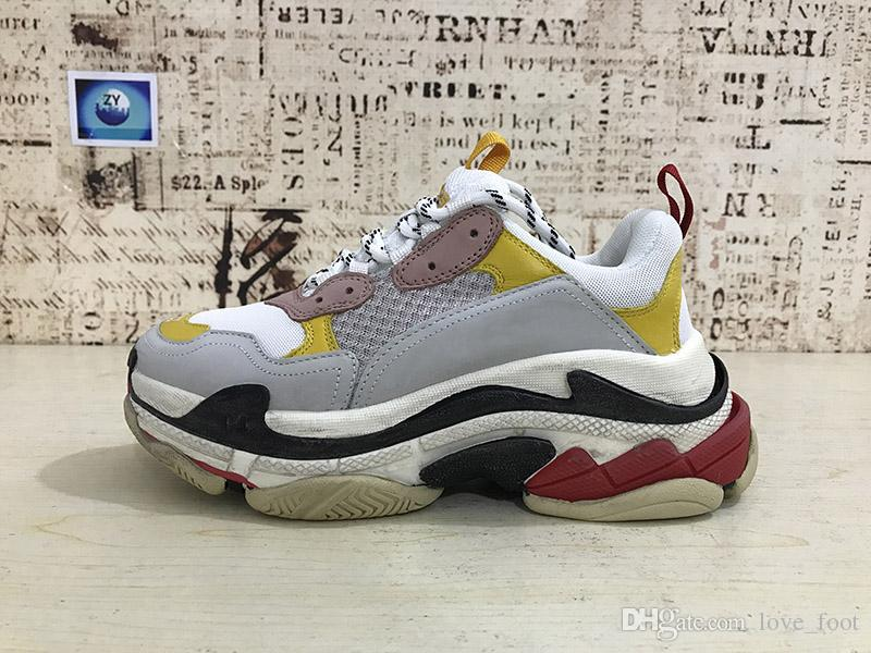 0a5570b5ad8 2018 INS Fashion Basking Yeh Platform shoes Womens Running Shoes good  Quality Uizzang Triple S Sneakers Athletic sports Shoes With Box Italian  Shoes Cute ...