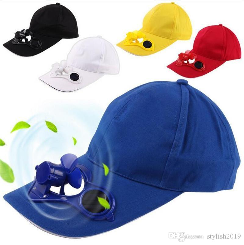 fd3efe97548 New Hot Men Women Solar Power Sun Baseball Hats With Cooling Fan ...