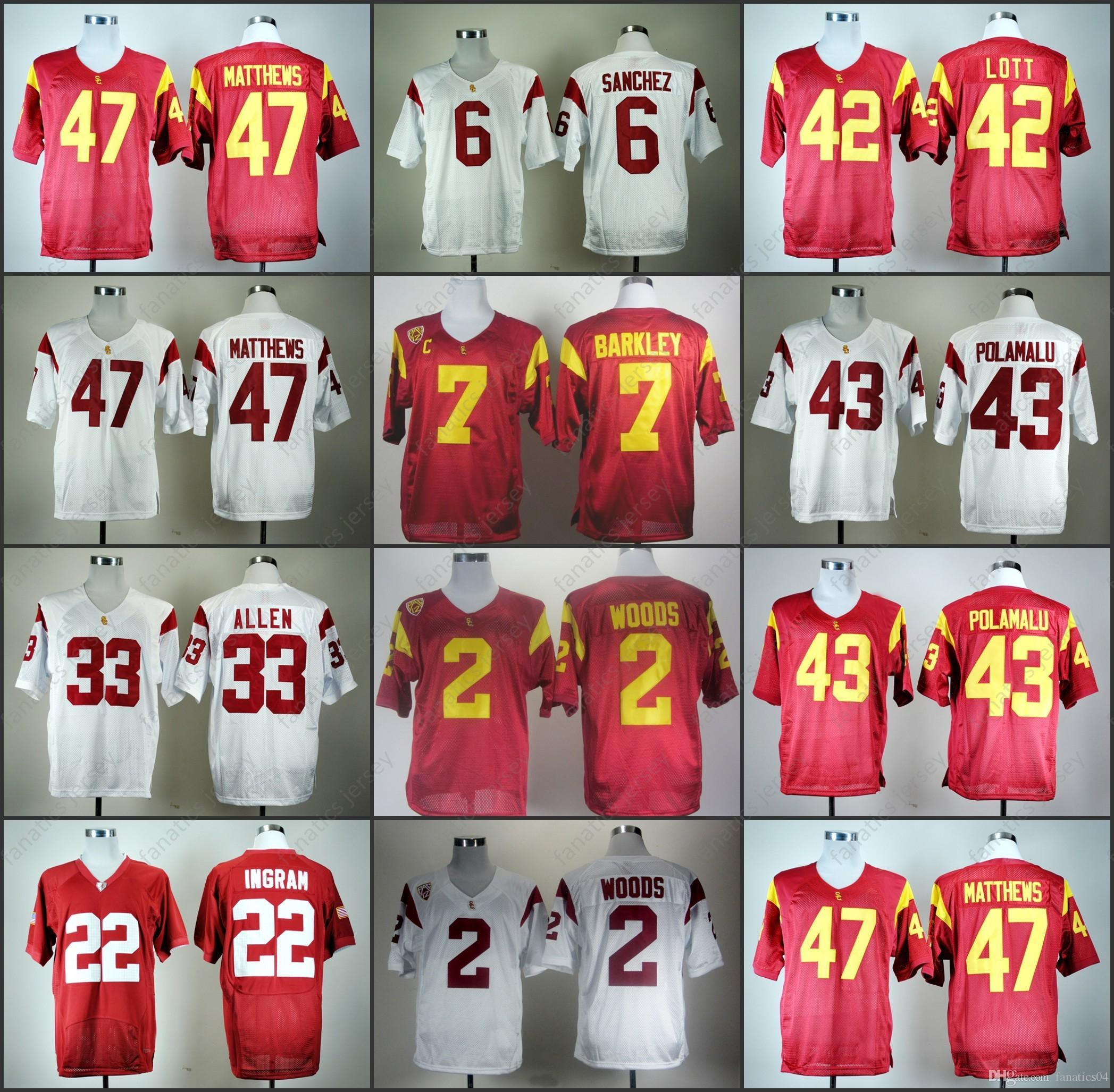 a2a693b7c ... buy 2018 usc trojans jersey ncaa college football clay matthews marcus  allen mark ingram mark sanchez