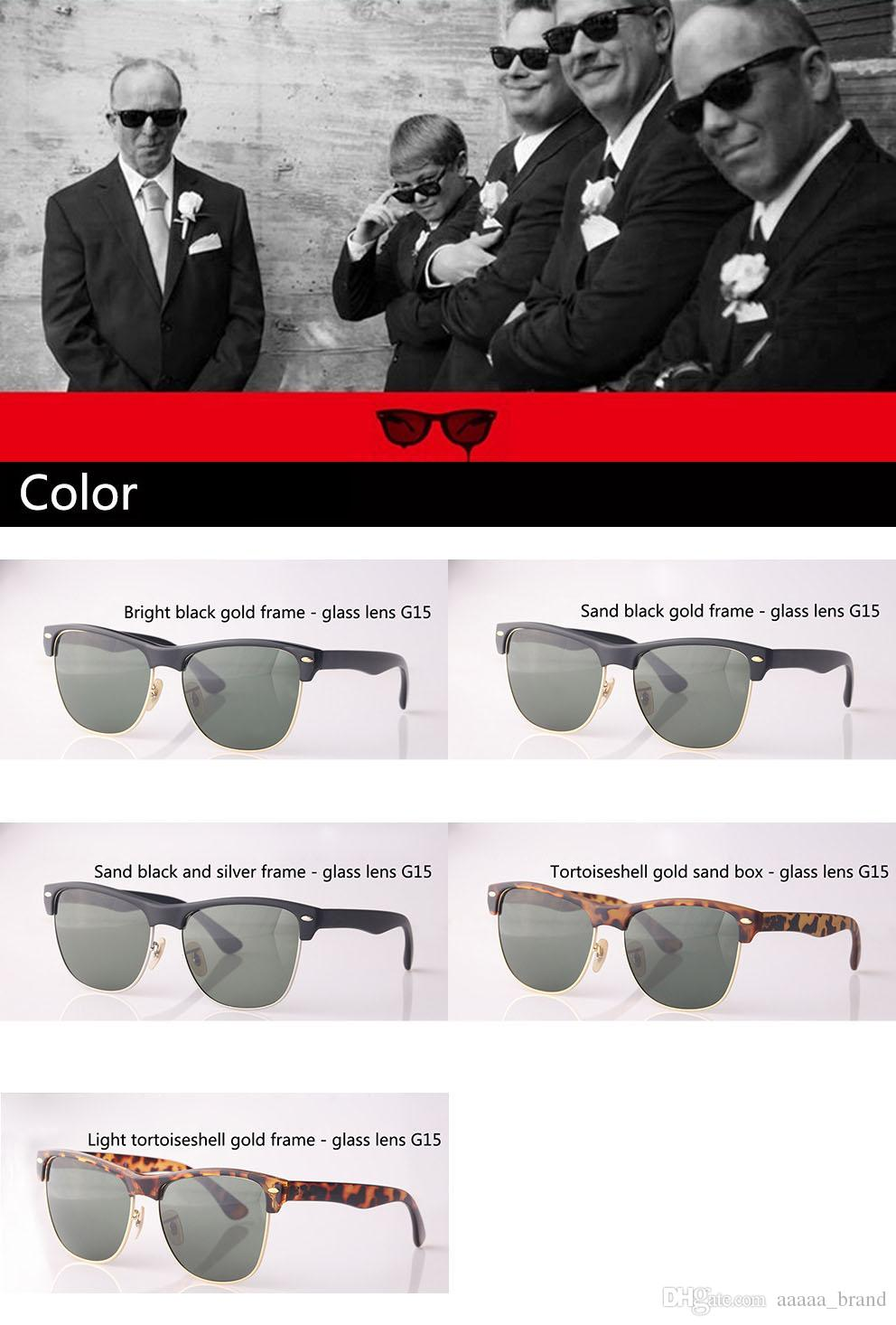 5A+ High Quality Brand Sunglasses men women brand designer Semi-Rimless frame UV400 Mirror glass lens Eyewear with box and all accessories