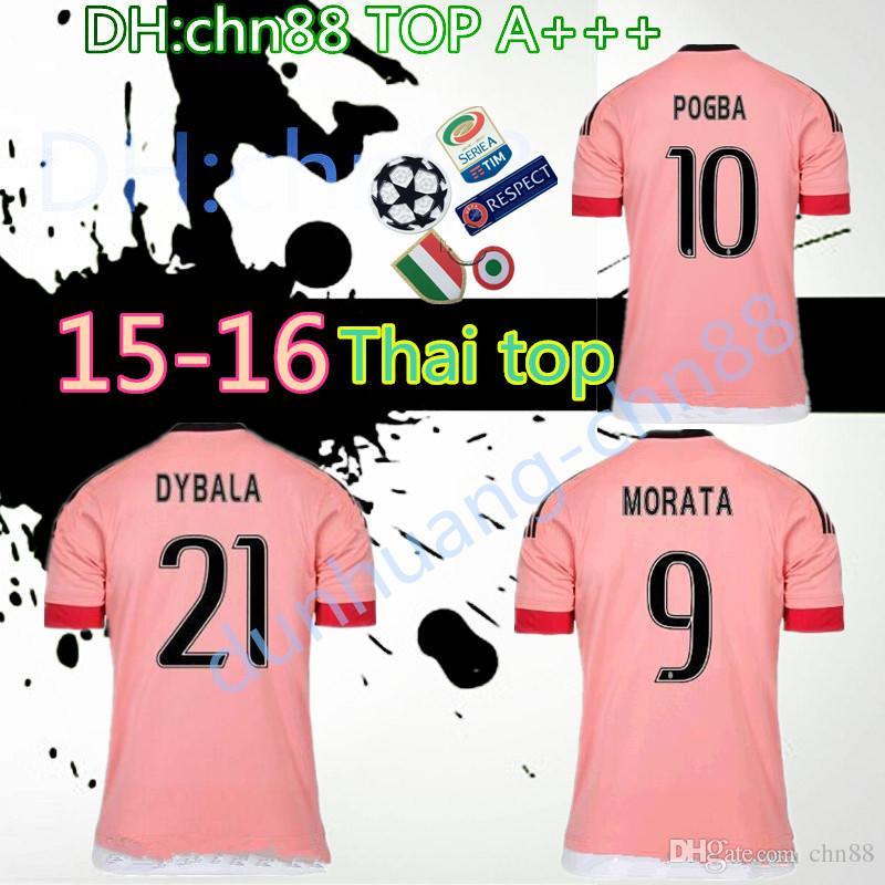 5a47a664286 2015 2016 Pink DYBALA Juventus Ronaldo Soccer Jerseys CHIELLINI ...