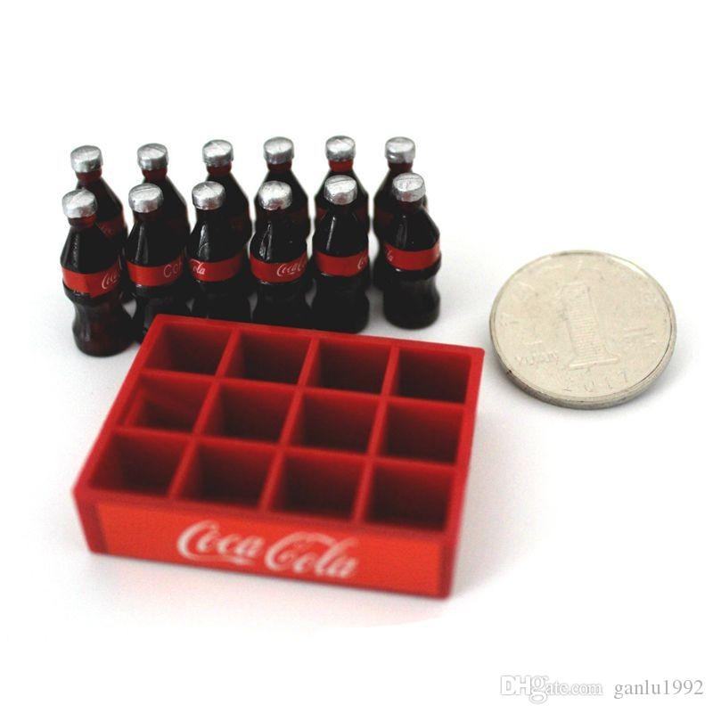 1:10 Miniature Toy Shokugan Decorate Shop Micro Landscape Doll House Accessories Mini A Basket Cola Model Scene Decorative 6 9mn WW