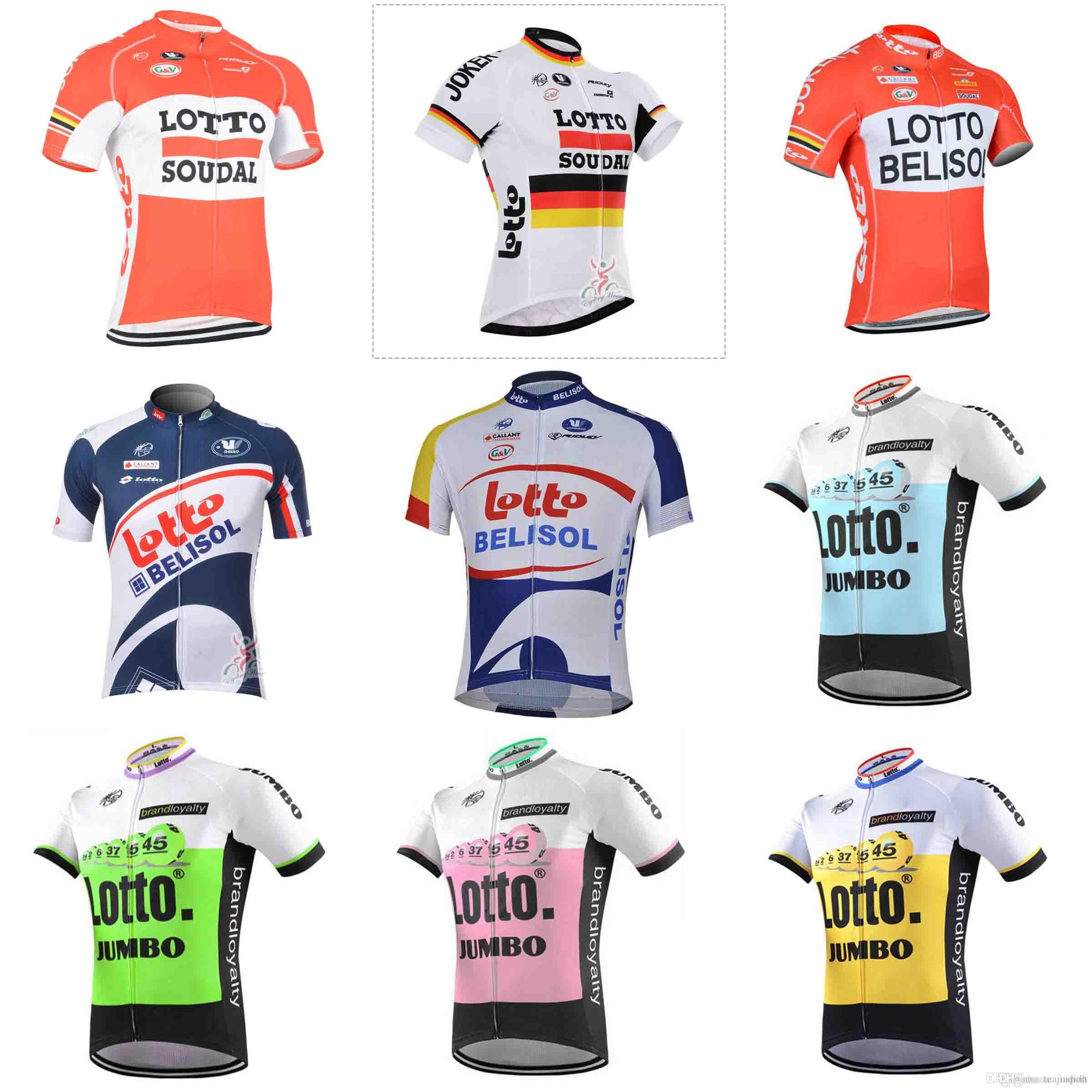 f63f5c7b2 LOTTO Team Cycling Jersey 2018 Summer Discount Cycling Jerseys Short Sleeve  100% Polyester Clothing Quick Dry Sportwear 840210 Womens Cycling Jerseys  Best ...