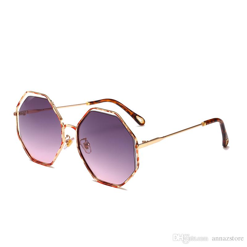 3bd84f182a0 2019 21133 Superhot Eyewear 2018 New Oversized Octagon Metal Sunglasses  Fashion Women Men Brand Designer Sun Glasses Big Frame Shades From  Annazstore