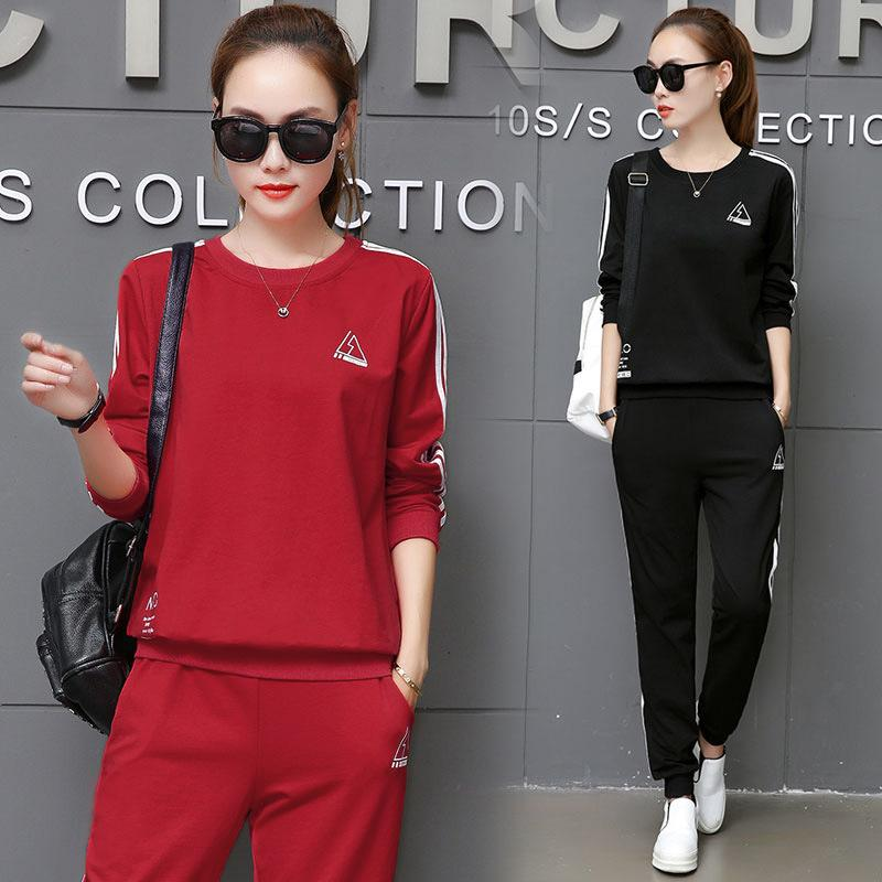 147fbf59399 2019 Running Set Women Sportswear M XXXL Plus Size Jogging Suit Striped  Sweat Shirt Pants Sport Costome Gym Tracksuit Women Clothing From  Cloudyday