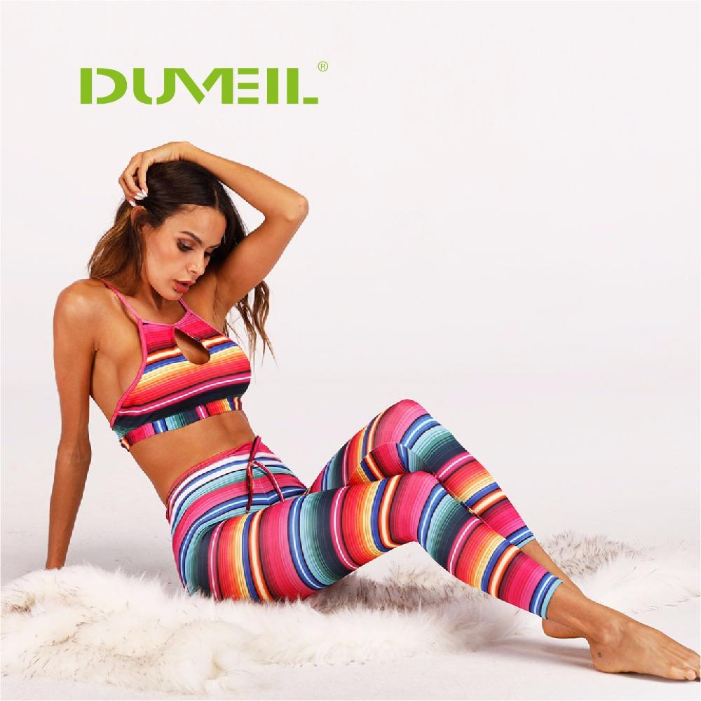 f5e43fd2f8 2019 Sexy Multicoloured Printing Yoga Sports Suit Women Vest+Yoga Pants  Fitness Backless Yoga Set Bodybuilding Gym Running Sportswear From Rainlnday